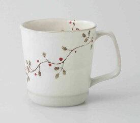 花つなぎ 軽量マグ(赤) 波佐見焼 和食器 陶器 はさみやき マグカップ 急須 コーヒーカップ 湯呑