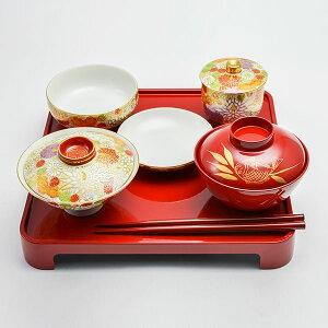 【九谷焼】子供食器セット花詰