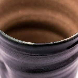 【九谷焼】ビアカップ黒釉ペア