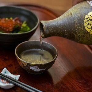 【九谷焼】酒器セット月見うさぎ金箔付き