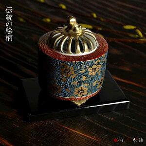 【九谷焼】香炉青粒鉄仙3.5号