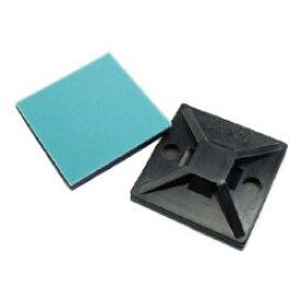 芝軽粗材 (シバケイ) コンベックスベース 黒 (粘着テープ/グレー) CK-20B (100個入) (CK20B)