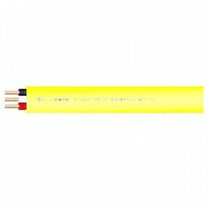 菅波電線 600Vビニル絶縁ビニルシースケーブル平形 1.6mm 3心 100m巻 黄色 VVF1.6×3Cキイロ×100m