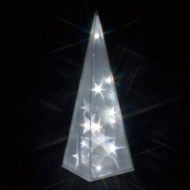 ジェフコム LEDクリスタルモチーフ 電池式 屋内仕様 サイズ:幅13×奥行13×高さ40cm ツリー STM-M05W