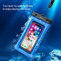 電材堂エアークッション防水ケーススマートフォン用最大6インチブラックDACFSDA01