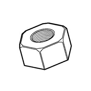 【期間限定特価】 ジェフコム 六角ナット W3/8 60個入 NT-W9P