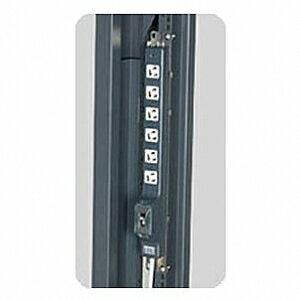 明工社 20A安全ブレーカ付ラック縦タイプ 縦・横兼用金具 ランプ付 コード下方 VCTF5m 接地プラグ付 MR78330TJ5