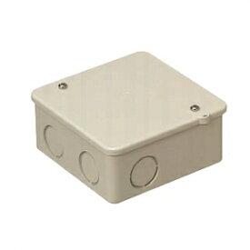 未来工業 PVKボックス 中形四角浅型 ノック付き ベージュ PVK-ANJ