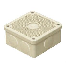 未来工業 露出用四角ボックス 取付自在蓋 ケーブルブッシング付 ミルキーホワイト PV4B-ANFM