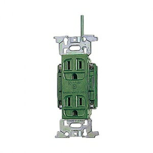 パナソニック フルカラー 医用接地ダブルコンセント 緑 15A 125V WN1318GK