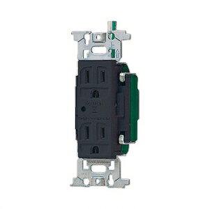 パナソニック フルカラー 医用接地ダブルコンセント 通電表示ランプ付 チョコ 15A 125V WN13185AK