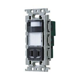 パナソニック かってにナイトライト 埋込熱線センサ付ナイトライト LED:電球色 明るさセンサ付 コンセント付 15A 125V グレー WTV4065H
