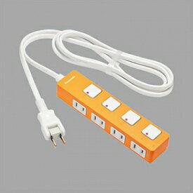 パナソニック ザ タップZ 4コ口 2mコード付 オレンジ ランプレス個別スイッチ付 WHS2524JP