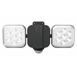 ライテックス フリーアーム式LEDセンサーライト 防雨型 コンセント式タイプ 天井取付可 8W×2灯 1500lm ハロゲン300W相当 CAC-16