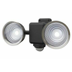 ライテックス フリーアーム式LEDセンサーライト 防雨型 ソーラー式タイプ 天井取付可 1.3W×2灯 220lm 白熱球30W相当 CSC-40