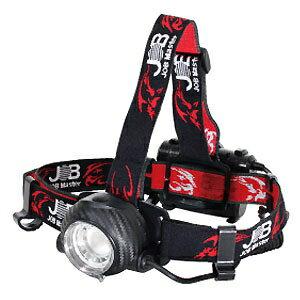 ジョブマスター LEDヘッドライト 防塵・防水タイプ 高輝度チップタイプ白色LED 最大450lm 単3電池×3本 フォーカス機能・後部認識灯付 JHD-450