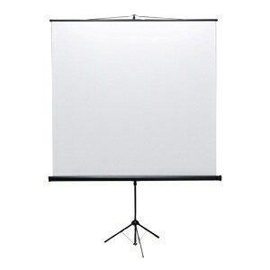 サンワサプライ プロジェクタースクリーン 三脚式 80型相当 アスペクト比1:1 PRS-S80