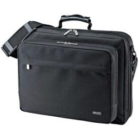 サンワサプライ PCキャリングバッグ シングルタイプ 15.6インチワイド対応 フルオープンタイプ ブラック BAG-U54BK2