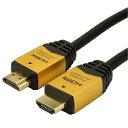 ホーリック ハイスピードHDMI標準ケーブル タイプA メタルモールドタイプ 4K/30p対応 10m ゴールド HDM100-903GD