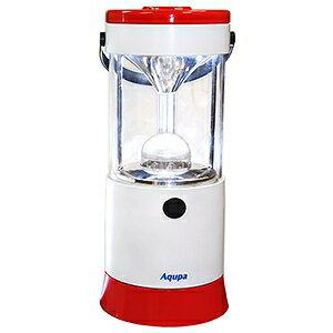 日本協能電子 LEDランタン LED×6灯 連続点灯約80時間 パワーバー付 高さ210mm 《Aqupaランプ》 白/赤 LP-210R