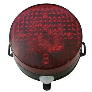 リーベックス LED回転灯 パトピカⅡ 防雨型 電池式 マグネット・取付プレート付 SLR85R