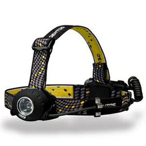 【PC、スマホエントリーで全品ポイント5倍】※14日20時-21日2時※ ジェントス LEDヘッドライト 《ヘッドウォーズ》 防滴タイプ 白色LED×1灯 300lm 単3形アルカリ電池×3本付 HW-000X