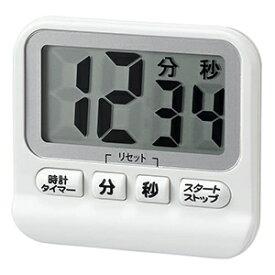 電材堂 防滴デジタルタイマー 時計機能付 ホワイト T41WHECO