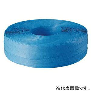 トラスコ中山 ポリプロピレンバンド 手締用 段ボールパックタイプ 幅15.5mm×1000m 青 TPP-155BD