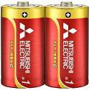 三菱 アルカリ乾電池 長持ちパワー Gシリーズ 単1形 2本パック LR20GD/2S