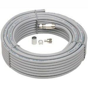 日本アンテナ テレビ配線ケーブル S5CFBケーブル 片側防水接栓加工済ケーブル 長さ10.0m グレー S5CFB10N