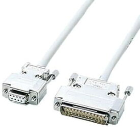サンワサプライ RS-232Cケーブル クロス系結線 D-sub9pinメス-D-sub25pinオス 0.75m KRS-423XF-07K