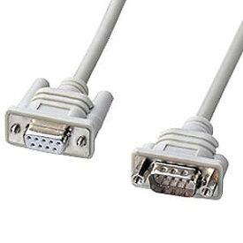 サンワサプライ エコRS-232C延長ケーブル ストレート全結線 D-sub9pinメス-D-sub9pinオス 非UL規格 2m KR-EC9EN2