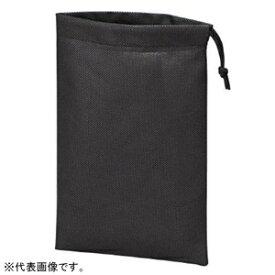 トラスコ中山 不織布巾着袋 260×180mm マチなし 黒 10枚入 TNFD-10-S