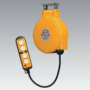ハタヤ 取付型自動巻取リール 電気用 《コードマックMS》 100V型 2P四ッ口コンセント 電線長8m VCT2.0㎟×2C 温度センサー内蔵 CBS-082Q