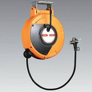 ハタヤ 取付型自動巻取リール 電気用 《コードマックⅡ》 100V型 2P三ッ口コンセント 電線長10m VCT2.0㎟×2C 温度センサー内蔵 CDSⅡ-101T