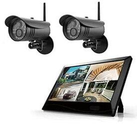 マザーツール 【カメラ2台セット】 高解像度ワイヤレスセキュリティカメラシステム 防水型 200万画素 10.1型LCDタッチスクリーン MT-WCM300カメラ2ダイセット