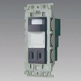 パナソニック 埋込熱線センサ付ナイトライト LED電球色 明るさセンサ・コンセント付 グレー WTL4065HK