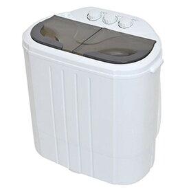 サンコー 小型二層式洗濯機 《別洗いしま専科2》 洗濯容量3.6kg 乾燥容量2.0kg RCWASHR4