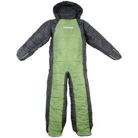パール金属 洗える人型シュラフ 寝袋 着るタイプ 約62×190cm 収納バック付 グリーン×グレー 《CAPTAIN STAG》 UB-8