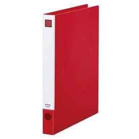 キングジム レバーリングファイル A4タテ型 内径22mm 2穴 紙寄せ2枚付 赤 6671アカ
