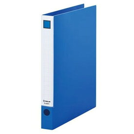 キングジム レバーリングファイル A4タテ型 内径26mm 2穴 紙寄せ2枚付 青 6672アオ