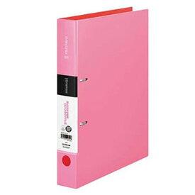 キングジム シンプリーズDリングファイル A4タテ型 内径32mm 2穴 紙寄せ1枚・表紙ポケット付 ピンク 652SPピンク