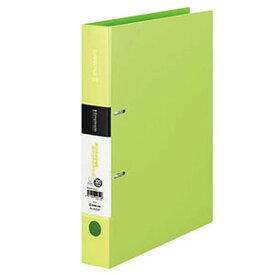 キングジム シンプリーズDリングファイル A4タテ型 内径32mm 2穴 紙寄せ1枚・表紙ポケット付 黄緑 652SPキミドリ