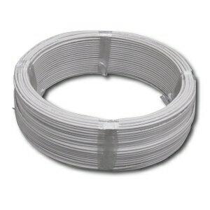 電材堂 600V ビニル絶縁電線 アース線 単線 1.6mm 100m巻 白 IV1.6×100mシロ