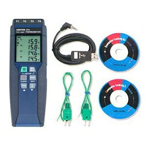 タスコ 4chデジタル温度計 ミニオメガプラグ式 データロガー機能付 TA410WC