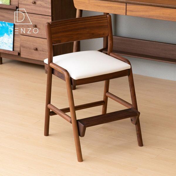 学習チェア ウォールナット ダイニングチェア イス 小学生 学習 高さ調整 木 姿勢 キャスターなし 一生紀 フィオーレ シンプル おすすめ 北欧 子供用椅子 送料無料 FIORE-WALNUT DESK CHAIR - ISSEIKI 101-00610