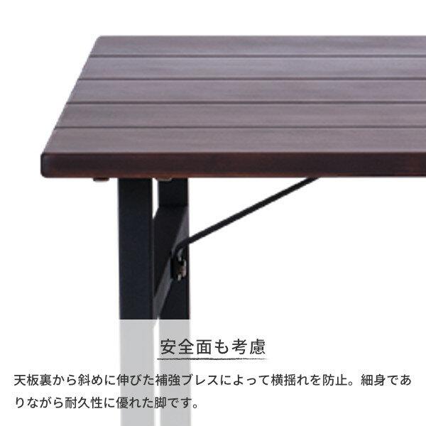 【5/1本日限定!エントリーでP20倍!】テーブルダイニングテーブル食卓2人掛けスチール木製シンプルモダンインダストリアル幅80おしゃれ送料無料LITTLEDININGTABLE80(AC-MBR)-ISSEIKI101-02112