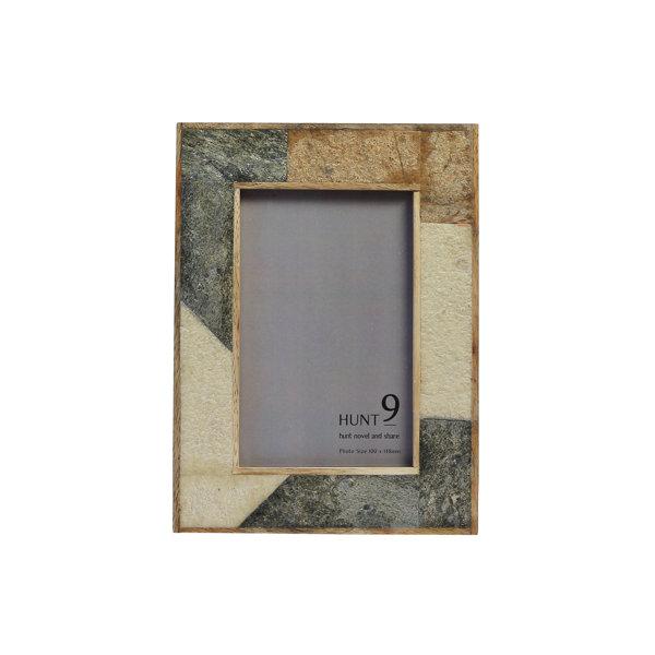 フォトフレーム写真立ておしゃれかわいい幅14高さ19長方形フレームインテリア雑貨天然木ガラススレート異素材ミックスプレゼントギフト贈り物送料無料SLATEP1-BE220-00009