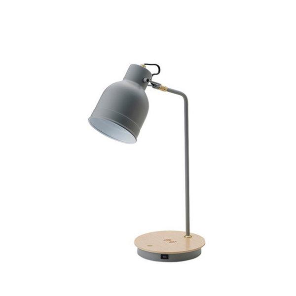 テーブルランプおしゃれランプデスクランプデスクライトワイヤレス充電スマホ充電USB4色LED電球付き3色調色切替勉強読書テレワークリモート書斎キッズルームリビング送料無料LEDTableLampL221-00001