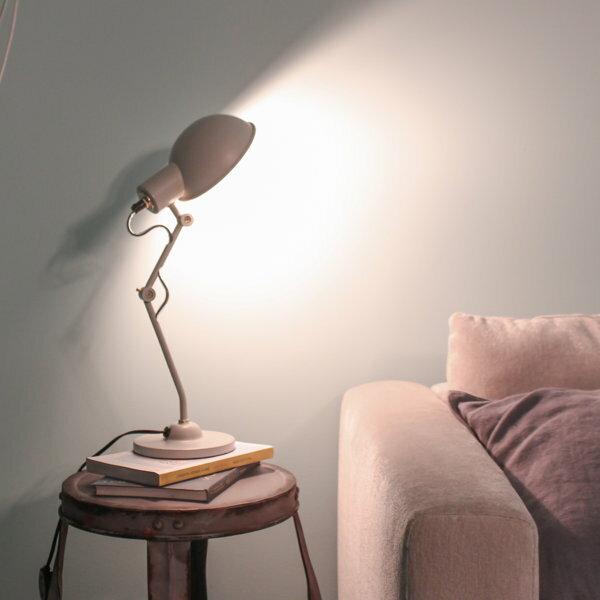 テーブルライトデスクライトデスクランプ卓上ライト卓上ランプ照明間接照明スチール40WE-17白熱LED電球使用可スイッチ付コンパクト重さ1kgテレワークリモート書斎リビング寝室送料無料Ferreodesklamp222-00001